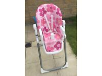 Baby/Toddler High Chair - Pink - Cosatto - Great Condition