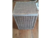 Large Wicker Laundry Basket / Hamper with Linen Liner from Next