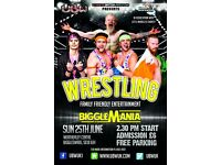 Wrestling returns to Biggleswade! Family entertainment with UBW and the Weatherley Centre Jun 25th