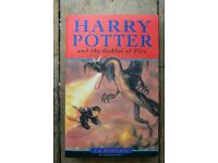 Harry Potter and The Goblet of Fire by J. K. Rowling 2000 First Pressing