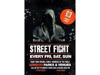 PUBLIC BOXING SPORTS POP UP - SPAR/FIGHT FOR FUN - HYDE PARK LONDON