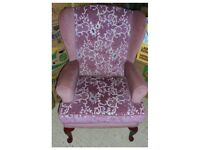 High Back Upholstered Armchair