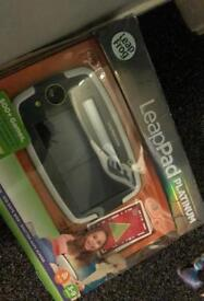 Leappad platinum kids tablet with wifi boxed as new with power lead
