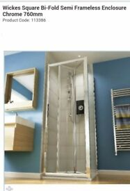 Shower Enclosure and Tray 76cm