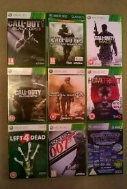 9 x Xbox Games (includes 5 x Call of Duty/Modern Warfare Titles)