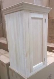 Solid pine kitchen wall cupboard (single door)