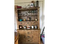 Brand new original rustic solid oak dresser