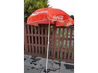 Coca Cola garden/beach umbrella/parasol