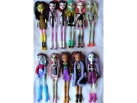 £4.50 each Monster High dolls bundle inc Cupid, Clawdeen, Spectra, Abbey...