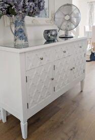Ornate Mirrored Sideboard (slightly damaged)
