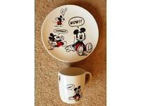 Disney Mickey Mouse Matching Mug & Plate Set - Easter Gift? (NEW)