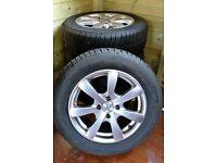 4 mud / snow tyres on alloy wheels