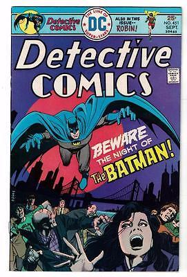 DC Comics 6..0 DETECTIVE FN+ BATMAN Bronze age #451 1975