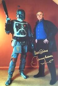 Star Wars Boba Fett signed photo card