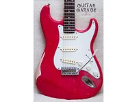 1985 FENDER Japan Fiesta Red Heavy Relic Stratocaster guitar - upgrades AND EXTRAS! MIJ CIJ