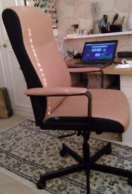 Leather adjustable office chair in good condition