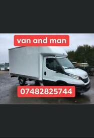 Van and man