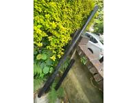 3 lengths of plastic pipe - drainpipe downpipe