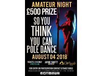 Wiggle Pole Dancing Competition ( So you think you can Pole Dance) £500 Cash Prize