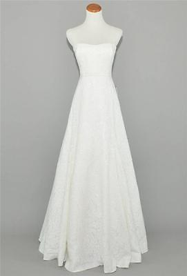 J.CREW COLLECTION $2,300 LAURA LACE WEDDING / BALL GOWN 4 IVORY LONG DRESS