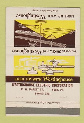 Matchbook Cover - Westinghouse Electric Corp York PA 40