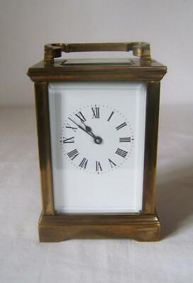 French Brass Carriage Clock in Working Order: 8 day movement: Unsigned