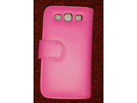 Samsung galaxy S3 Case Cover Bag for Samsung Galaxy S 3 , book style Pink Lady Ladies New
