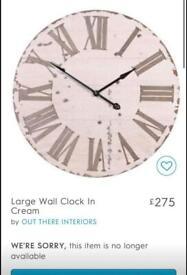 Large farmhouse wooden clock