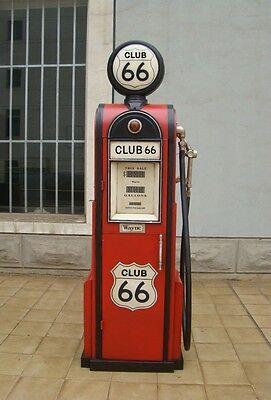 Tanksäule Zapfsäule Gasoline Höhe180cm Dekoration mit beleuchtetem Globe