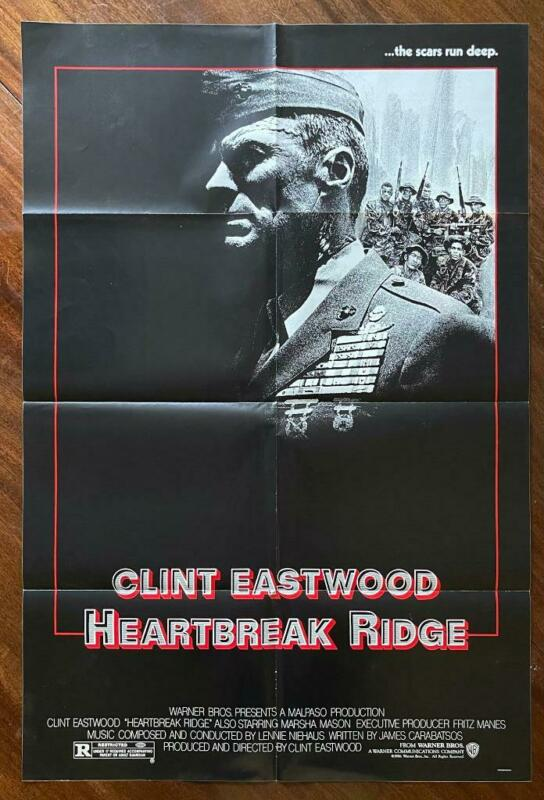 HEARTBREAK RIDGE 1986 Clint Eastwood War Drama Marines ORIGINAL MOVIE POSTER