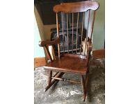 Traditional farmhouse rocking chair