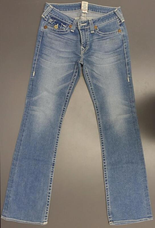True Religion Becky Big T Light Wash Denim Jeans Women 30 34