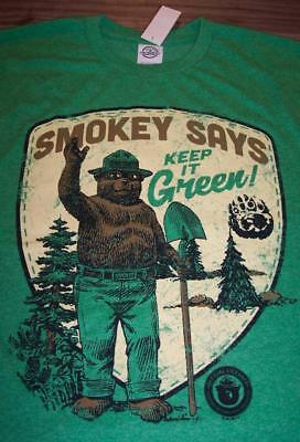 VINTAGE STYLE SMOKEY THE BEAR Keep It Green T-Shirt LARGE 80's NEW w/ TAG - The 80's Style