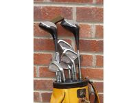 Vintage golf set+trolly make-Rekord.