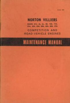 1955 Norton Villiers - Maintenance Manual Werkplaatshandboek