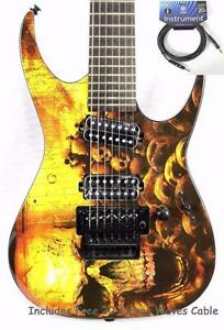 New, 2015 Dean RC7 Electric Guitar w/ Floyd Rose + Chromacase CC-EHC Hard Case