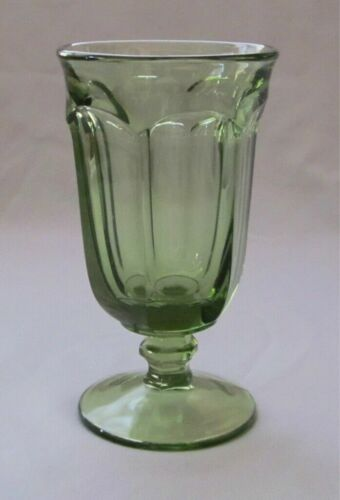EIGHT  Imperial Glass Old Williamsburg Verde Green ICE TEA GOBLETS  6.5 Inch
