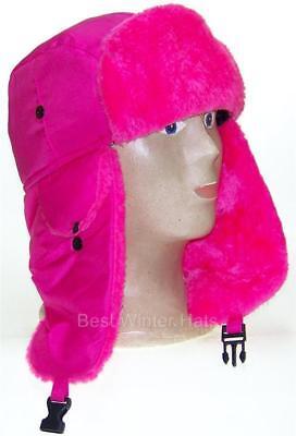 Kids Lightweight Neon Russian/Trooper Faux Fur,Snow,Ski,Winter Hat, #195 Pink](Kids Russian Hats)