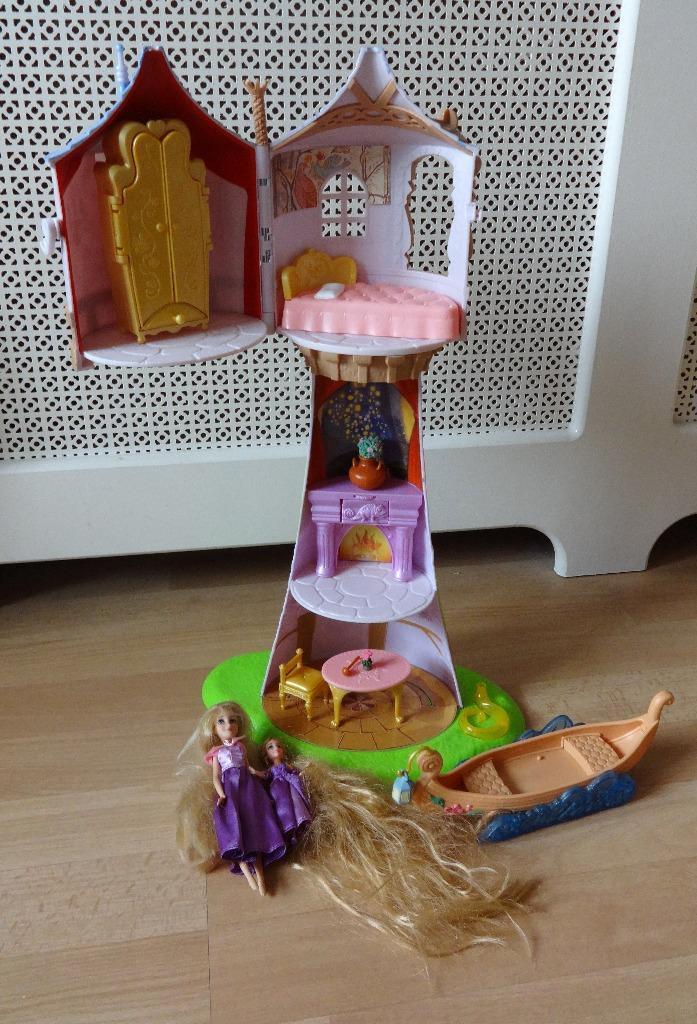 Disney Princess Tangled Rapunzel Tower Doll Playset In