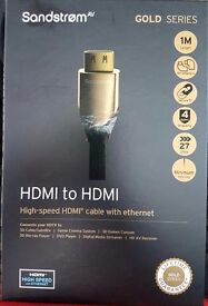 Sandstrom gold series hdmi cable (unopened)