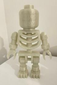 XL Lego style skeleton - glow in the dark