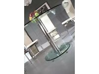 Glass Round Dining Table ONLY