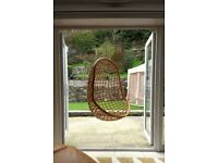 Vintage Retro Hanging Wicker Cane Chair 60s