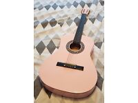 Herald Childs Pink Acoustic Guitar + accessories