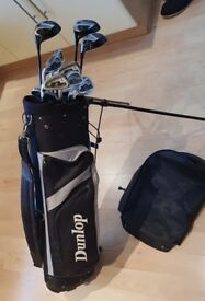 Left handed full set Donnay Golf Clubs & Bag , clubs have never been used