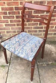Stunning Regency Dining/Living/Bedroom Chair Painted in any colour & reupholstered in any fabric