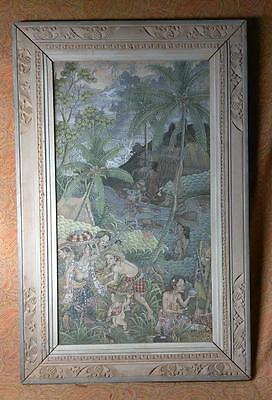 Old Vintage Kutuh Kaja Bali Painting Artist Signed Nude Women Woman Tropical Art