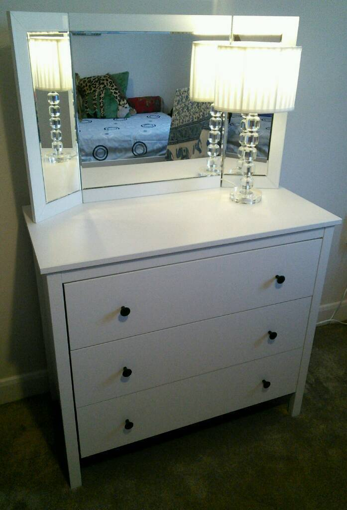 best service 7b301 e2ef8 Ikea Koppang Assembled white 3 drawer chest | in East Leake, Leicestershire  | Gumtree