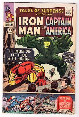 MARVEL Comics  TALES OF SUSPENSE  #69 1965 FN+ 6.0 IRON MAN  Titanium man