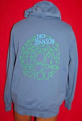 JACK JOHNSON From Here To Now To You Concert Tour Zippered Hoodie JACKET L Folk